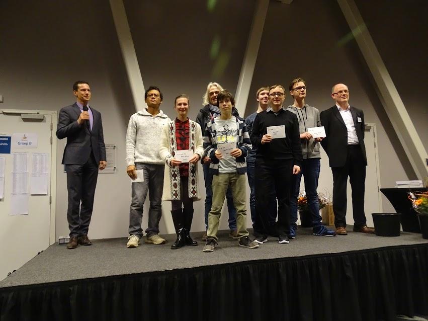 De zeven besten van groep C. Martijn de Wit staat tweede van rechts. Naast hem (een beetje verstopt) oud-clubgenoot Klaas Jan Koedijk.